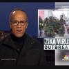 Reportagem da NBC News na Praça do Derby